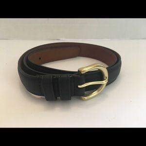 Coach Women's Black Leather Belt
